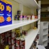 Bare shelves at the food bank