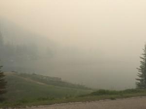 Smoke on Medicine Lake, Friday afternoon. | Dieter Regett photo