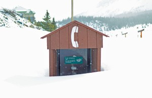 An internal document raised suggested taking a look at Parks Canada's policy about the use of cell phone towers along the highway. Currently Currently the majority of the Icefields Parkway is a dead zone for cell phones with pay phones installed sporadically at different rest stops along the 230-km road.