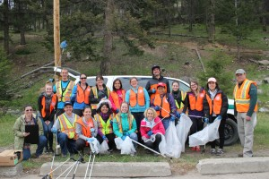 More than 20 staff from Mountain Park Lodges managed to fill up at least 10 bags of garbage in May 2016. Photo - P. Clarke