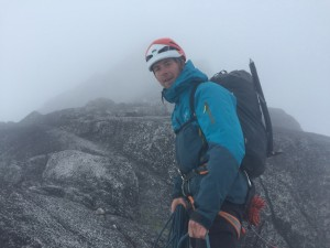 The last picture of Ryan Titchener on Pigeon Spire, in Bugaboo Provincial Park, before his accident on July 15. Submitted photo.