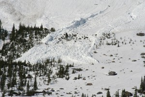 The run out from an avalanche. Creative Commons photo.