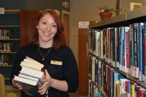 After two years working as a clerk at the Jasper Municipal Library, Holly Llewellyn is heading back to school to become a certified library technician. K. Byrne photo