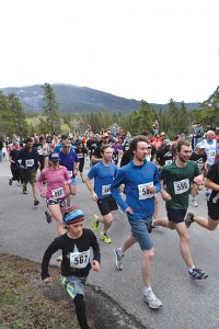 A total of 95 runners registered for the 34th annual Spring Run Off, May 14. C. Gilbert photo.