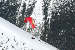 Well known Canadian paraglider Will Gadd launched off Whistlers Mountain to mark the first paraglide flight in a Canadian national park on May 9, 2015. The two-year pilot project wrapped up last month. File photo.