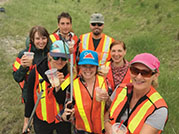 One hundred and forty staff from Parks Canada and the municipality managed to collect 1,710 kilograms of garbage during Stewardship Day, June 8. Photo provided